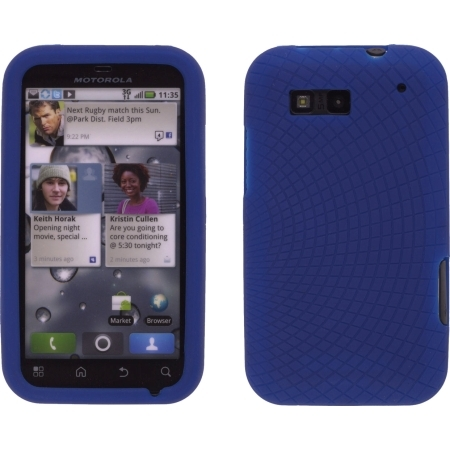 Cobalt Blue Radiant Silicone Case 4 Motorola MB525 Defy