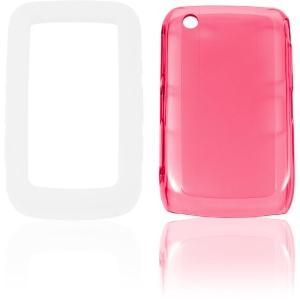 Ventev 3inONE High Gloss Snap-On Gel Case for BlackBerry 8520, 8530, 9300, 9330 -  Pink