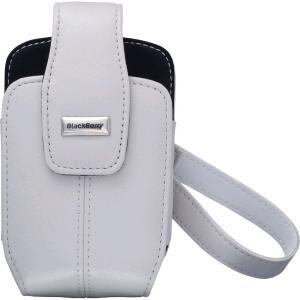 OEM BlackBerry 8700 8703e Leather Tote Holster - White