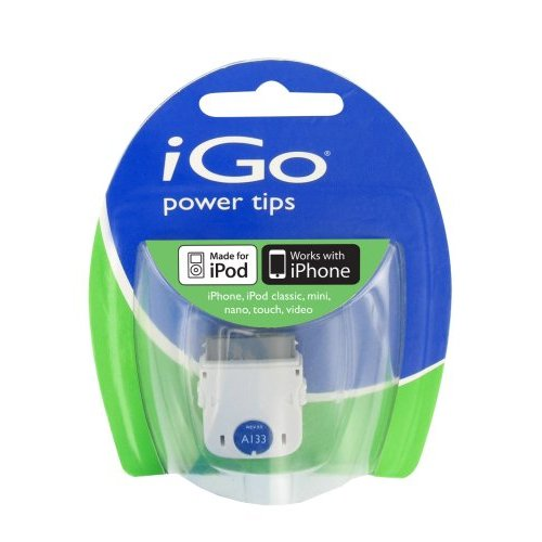 iGo A133 Power Tip for Apple iPod and iPhones 30-Pin Cable (White) - TP06133-0001