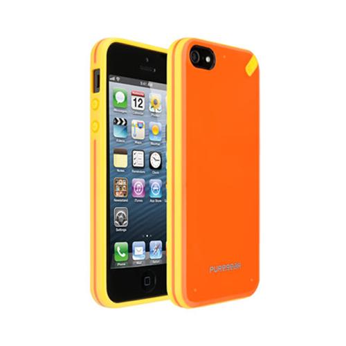 Puregear Slim shell Case for Apple iPhone 5 (Mandarin Orange) - 02-001-01823