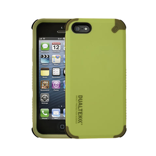 Puregear DualTek Extreme Impact Case for iPhone 5/5s/SE (Green) with 3M Screen Protector