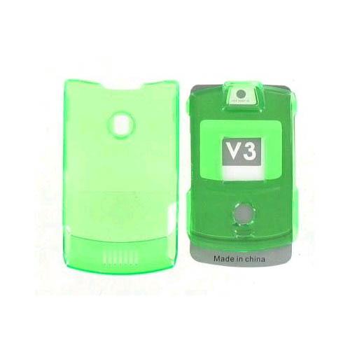 Snap On Case for Motorola RAZR V3 V3c - Aqua Med. Green (No Belt clip)