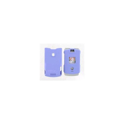 Snap On Case for Motorola RAZR V3 V3c - Purple (With Belt clip)