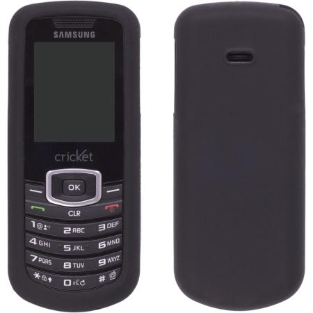 Wireless Solution Silicone Gel Case for Samsung Stunt SCH-R100 - Black