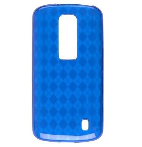 Wireless Solutions Argyle Dura Gel TPU Skin Case for LG Nitro P930 (Blue)