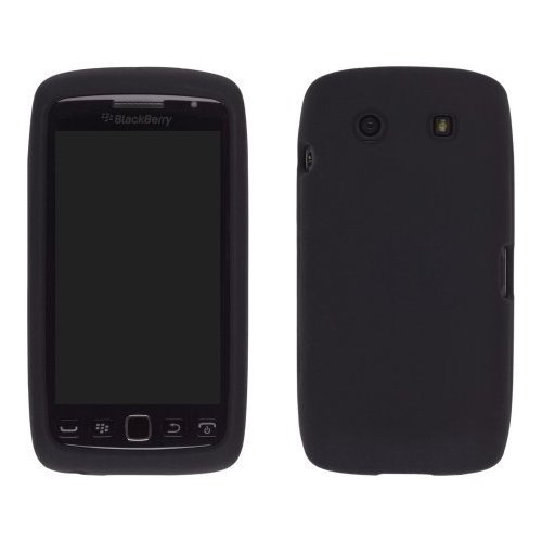 Silicone Gel Case for Blackberry Torch 9850/9860 (Black)