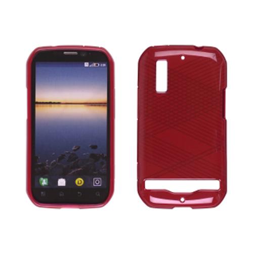 Ventev Criss-Cross Dura-Gel Case for Motorola Photon 4G MB855 (Red)