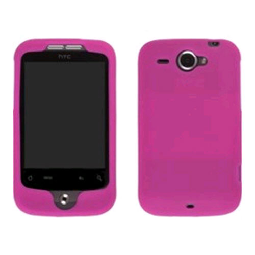 Wireless Solution Silicone Gel Case for HTC Wildfire (GSM) - Watermelon