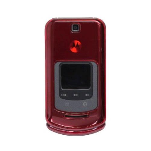 Motorola VE465 Frost Snap-On Case Red