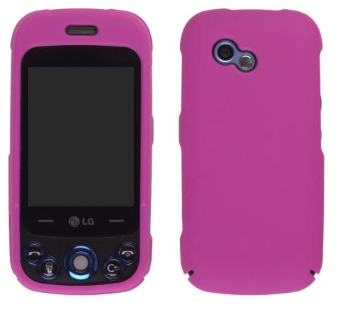 Wireless Solutions Soft Touch Snap-On Case for LG GW370 Neon II - Hot Pink