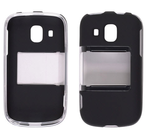 Wireless Solutions Hybrid Slide Snap Case for Samsung Transform Ultra SPH-M930 (Clear/Black)