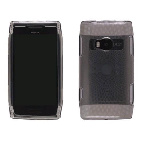 Wireless Solutions Diamonds Dura-Gel TPU Case for Nokia X7 (Smoke)