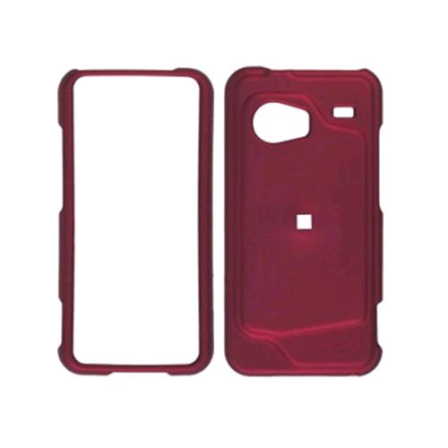 Two piece Soft Touch Snap-On Case for HTC Droid Incredible ADR6300 (Front/Back) Red