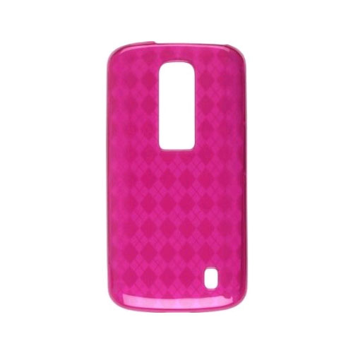 Wireless Solutions Argyle-Patterned Dura-Gel Case for LG Nitro P930 - Plum Pink