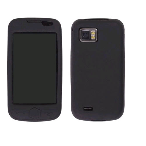 Wireless Solutions Silicone Gel Case for Omnia 2 SCH-I920 - Black