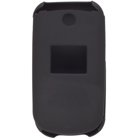 Two Piece Soft Touch Snap-On Case for LG 230, LG230 - Black