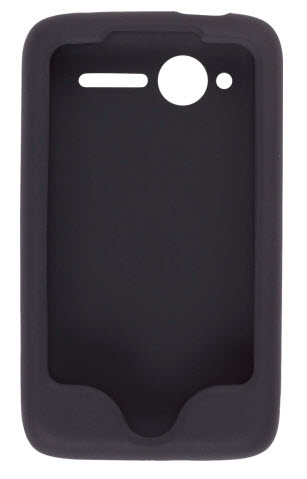 Wireless Solutions Silicone Gel Case for HTC Wildfire CDMA (Black)