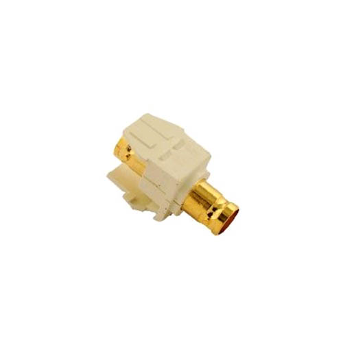 Leviton 40832-BA BNC Quickport Adapter, Gold-Plated, Almond
