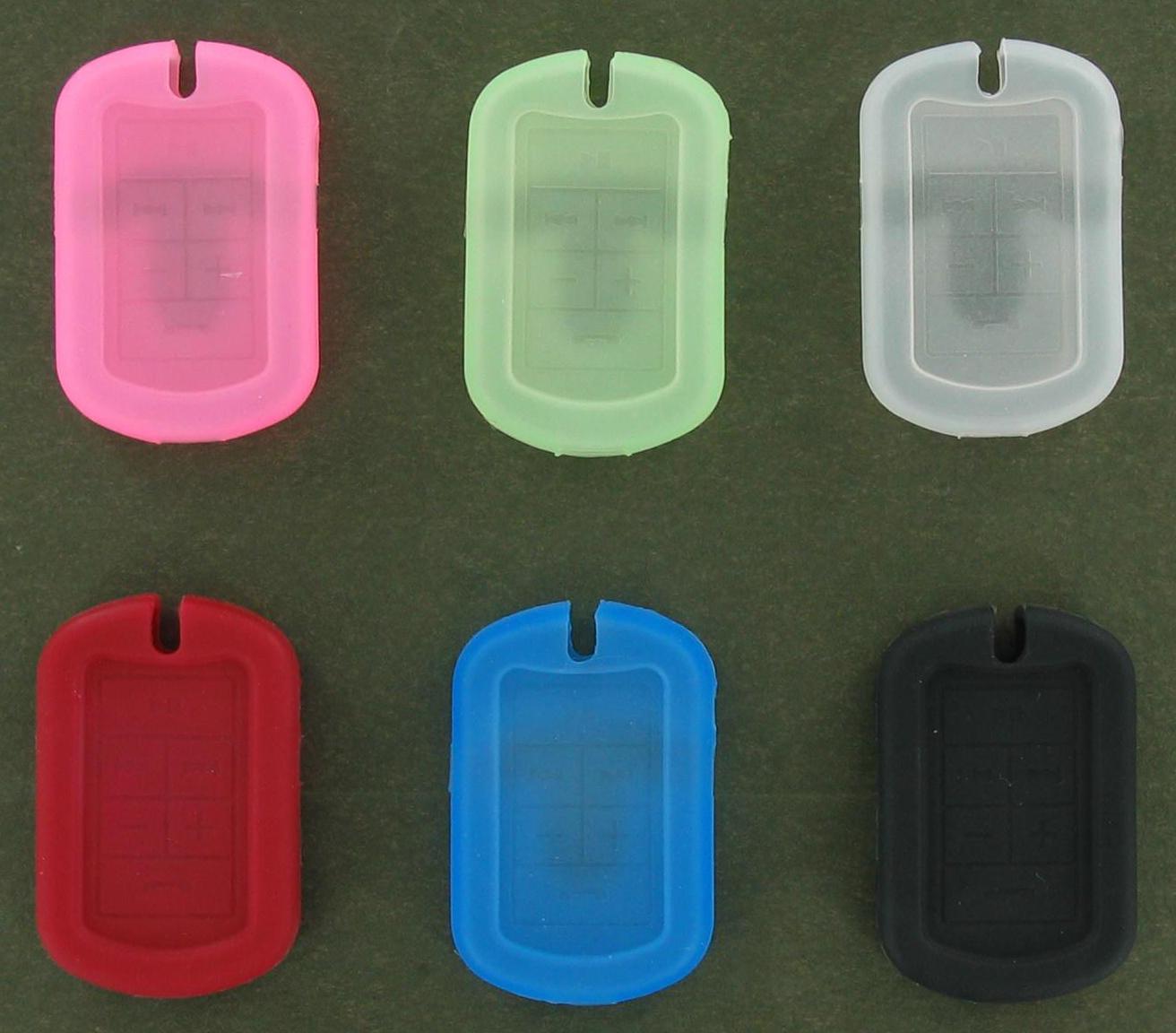 Jabra 6-Pack DogTag Gel Cases for Jabra BT3030 Bluetooth Headset (Assorted Colors)