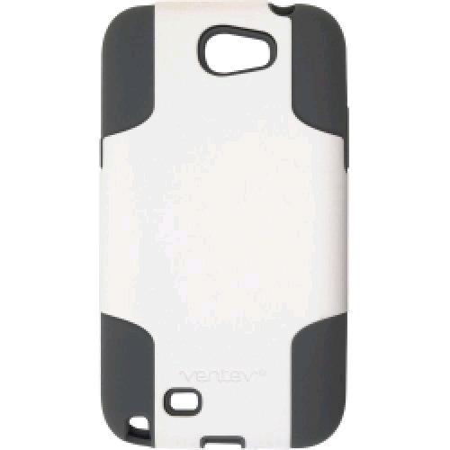 Ventev Hybrid Case Fusion Case for Samsung Note 2 (White/Gray)
