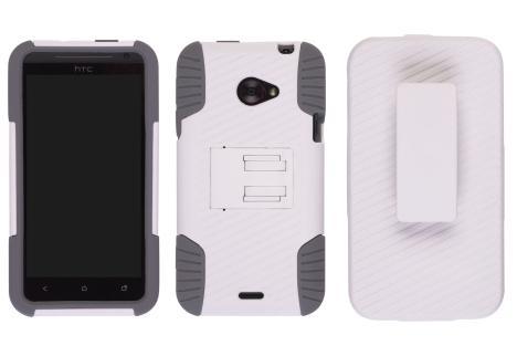 Ventev Edge Holster/Combo Case for HTC EVO 4G LTE - White/Grey