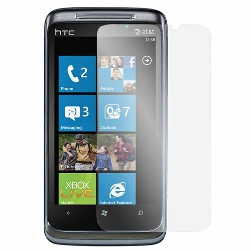 AT&T Premium Screen Protectors for HTC Surround T8788. (3 pack) + Cleaning cloth