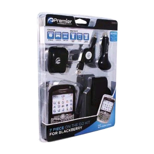 Premier - 7-Piece On The Go Accessory Kit for Blackberry Curve 8300, 8320, 8330