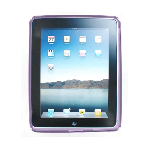 Technocel High Gloss Silicone Cover Case for iPad - Purple (Bulk Packaging)