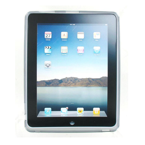 Technocel High Gloss Silicone Cover Case for iPad - Smoke (Bulk Packaging)
