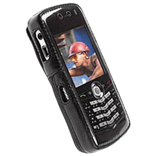 Krusell - Classic Multidapt Leather Case for Blackberry Pearl 8100C, 8100G, 8100V - Black