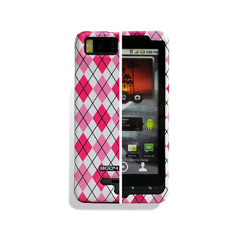 Body Glove Snap-On Case for Motorola MB870 Droid X2 (Pink Argyle) - 9219001