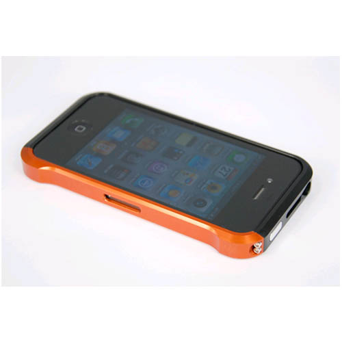 Unlimited Cellular Orange Aluminum Bumper Case for Apple iPhone 4/4S at Sears.com