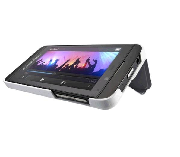 BlackBerry Flip Shell Case for BlackBerry Z10 (White)- ACC-49284-302