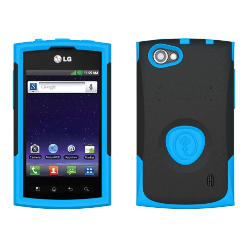 Trident Aegis Case for LG Optimus M+ / MS695 (Blue/Black) - AG-LG-MS695-BL