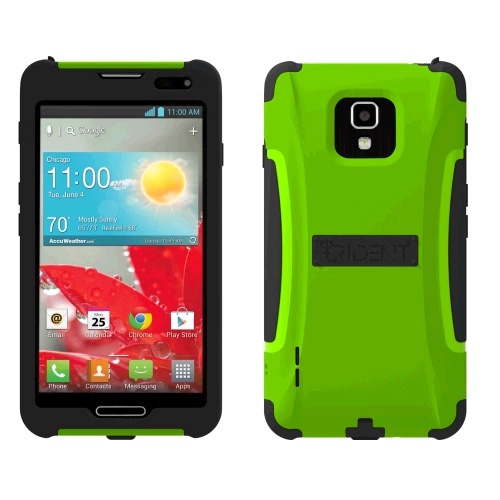 Trident Case - Aegis Case for LG Optimus F7 US780 - Green/Black