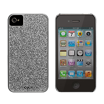 Case-Mate Glam Cover Case for iPhone 4/4S (Silver) (Bulk Packaging)