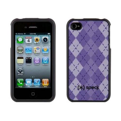 Speck Snap-On Hard Cover Case for Apple iPhone 4 (Lavander/Purple Argyle)