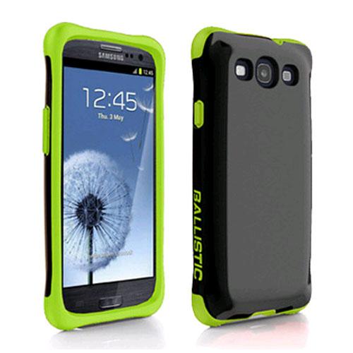 Ballistic Aspira Series Case for Samsung Galaxy S3 (Black/Lime Green)