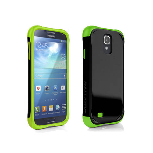 AGF Ballistic Aspira Series Case for Samsung Galaxy S4 (Black/Lime Green)