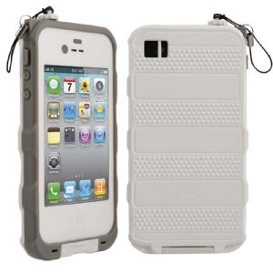 bFree Waterproof Case for Apple iPhone 4S (White / Gray)