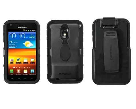 Seidio CONVERT Combo for Samsung Epic Touch 4G SPH-D710 and Galaxy S II SPH-R760 - Black