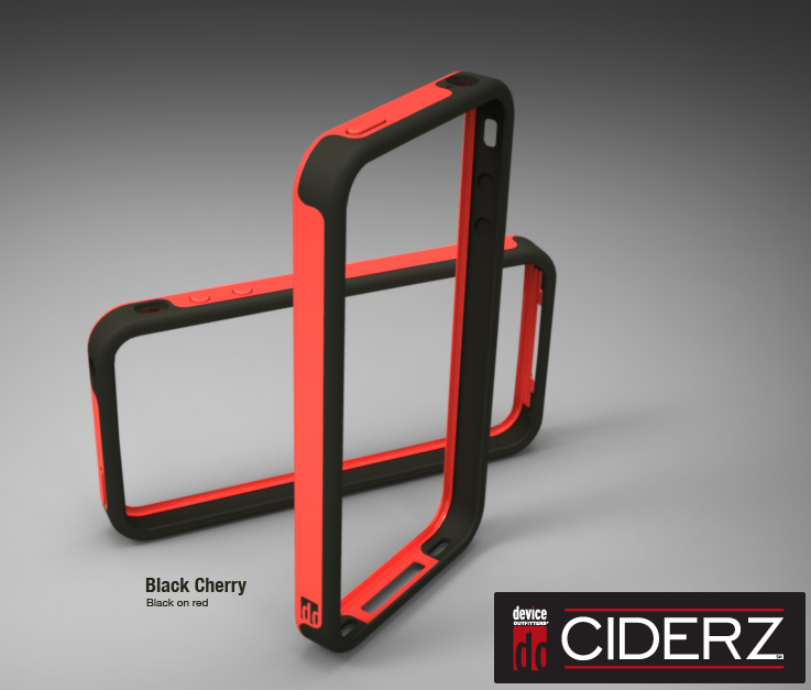 BodyGuardz Ciderz iPhone 4 Bumper - Red / Black (Black Cherry)