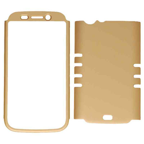 Rocker Series Snap-On Protector Case for Blu Life One L120 (Rubberized Honey Gold)