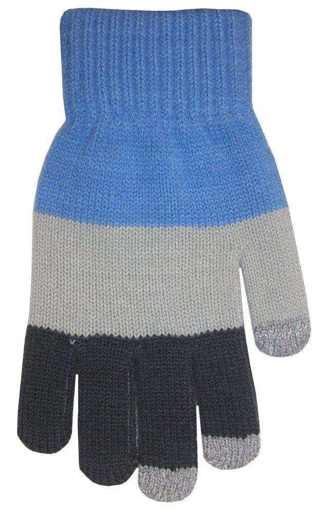 Boss Tech BTP-GLV-BLUGRY Knit Touchscreen Gloves, Texting Gloves, Tech Gloves (Blue Gray)