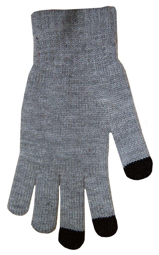 Boss Tech BTP-GLV-GRAY Knit Touchscreen Gloves, Texting Gloves, Tech Gloves (Gray)