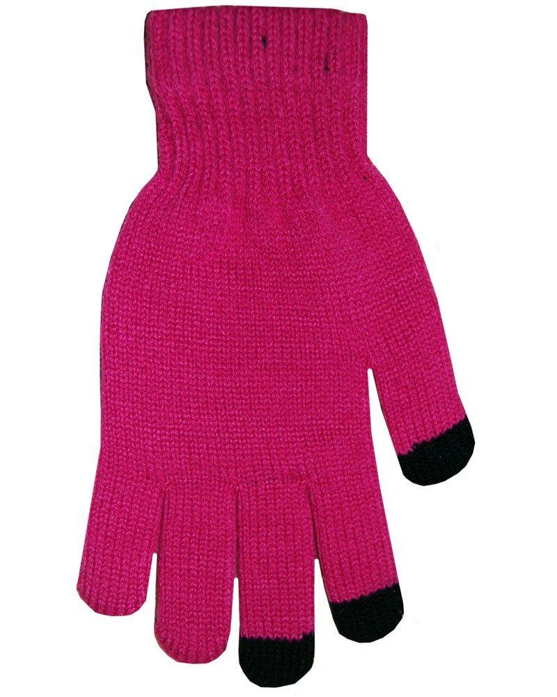 Boss Tech BTP-GLV-HTPINK Knit Touchscreen Gloves, Texting Gloves, Tech Gloves (Hot Pink)