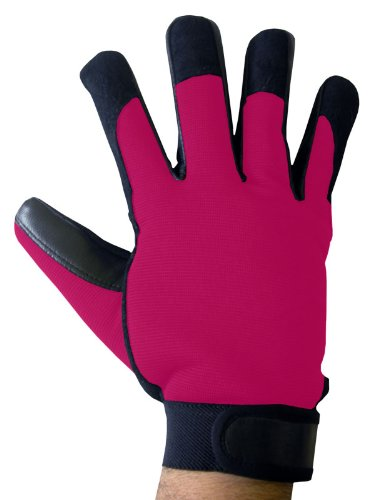 Boss Tech Mechanic's Style Touch Screen Gloves for All Touch ScreenDevices (Black/Pink)