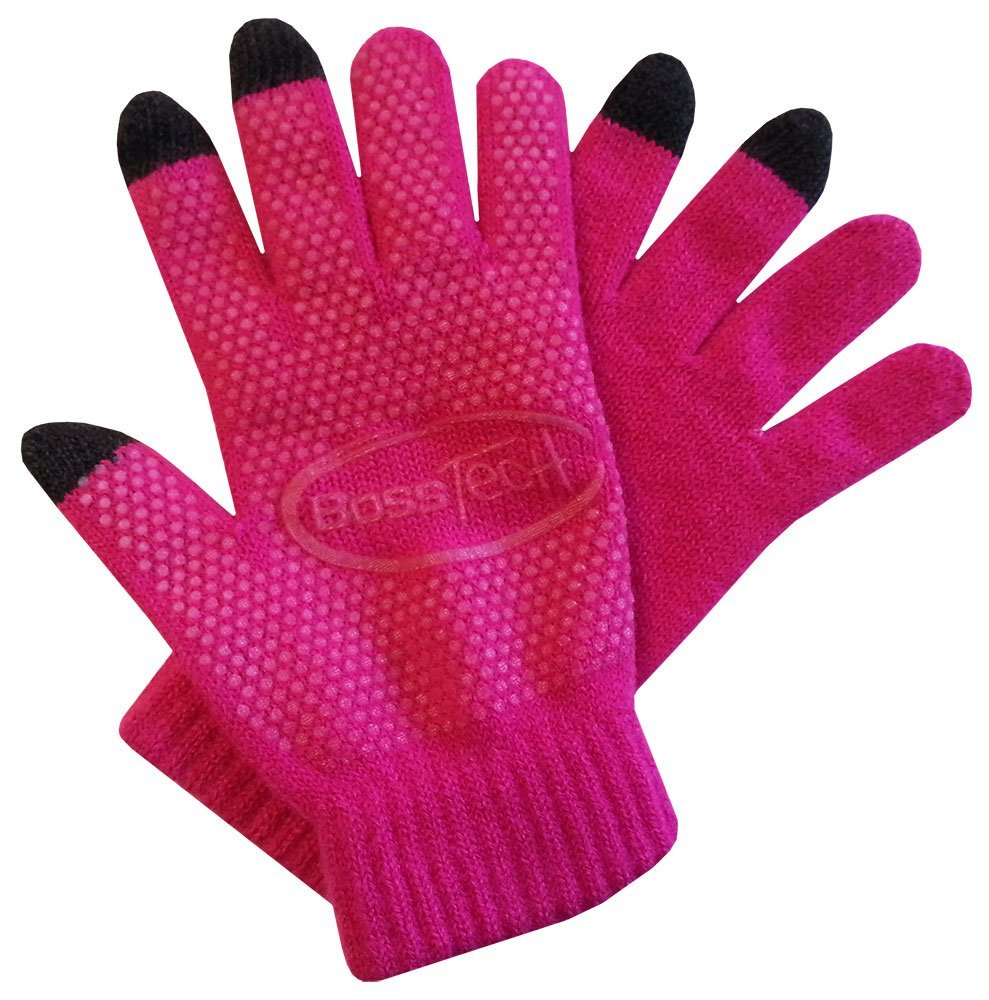 BTP-GLV-NS-HTPKBoss Tech Knit Non-Skid Touchscreen Gloves for Cell Phones, Smart Phones, Tablets Kiosks and ATM Machines