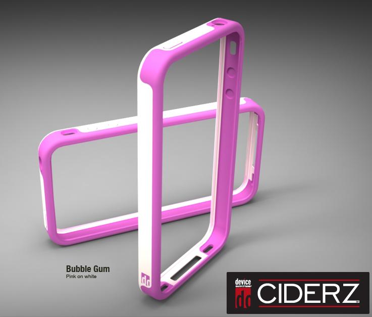 BodyGuardz Ciderz iPhone 4 Bumper - Pink / White (Bubblegum)